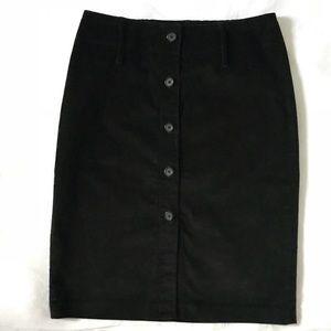 Express corduroy pencil skirt